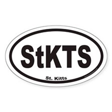 St. Kitts Euro Oval Decal