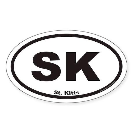 St. Kitts SK Euro Oval Sticker