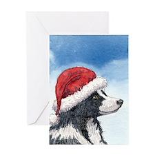 His Holiday Hat Greeting Card