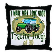 Tractor Tough 30th Throw Pillow