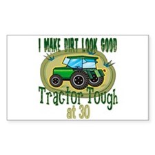 Tractor Tough 30th Rectangle Decal