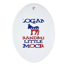 Logan - Grandma's Democrat Oval Ornament