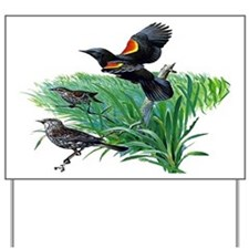 Red Winged Blackbird Yard Sign