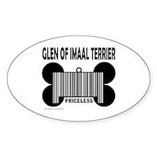 GLEN OF IMAAL TERRIER PRICELESS Oval Decal
