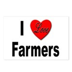 I Love Farmers for Farm Lovers Postcards (Package