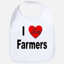 I Love Farmers for Farm Lovers Bib