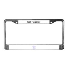 Cute Pets puggle License Plate Frame