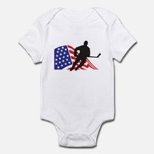 Cool American hockey Infant Bodysuit