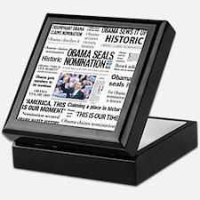 Historic Headlines Obama Keepsake Box