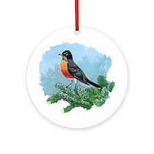 American Robin Ornament (Round)