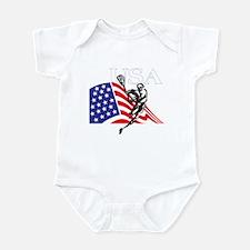 Cute Usa lacrosse Infant Bodysuit