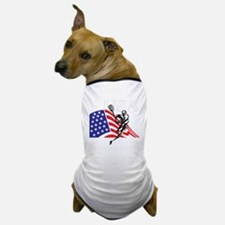 Cute Usa lacrosse Dog T-Shirt