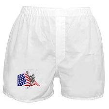 Cute Usa lacrosse Boxer Shorts