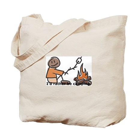 Campfire Rather be camping Tote Bag
