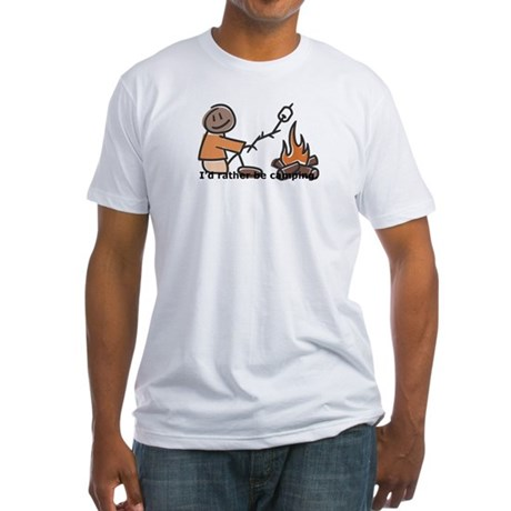 Campfire Rather be camping Fitted T-Shirt