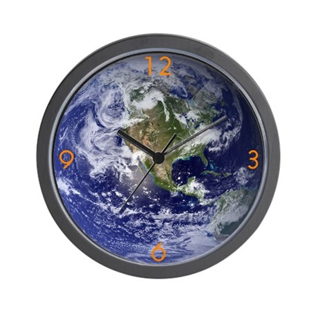 Blue Marble West Wall Clock