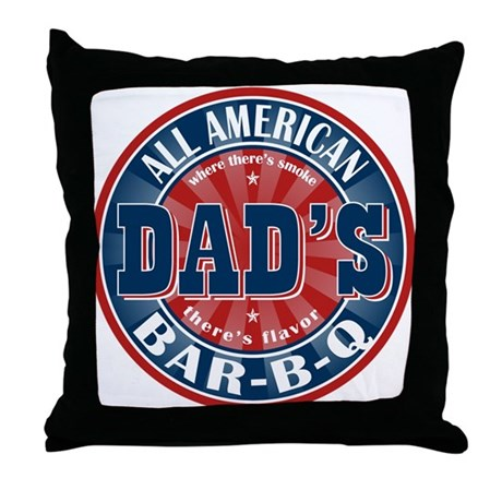 Dad's All American Bar-B-Q Throw Pillow