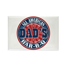 Dad's All American Bar-B-Q Rectangle Magnet