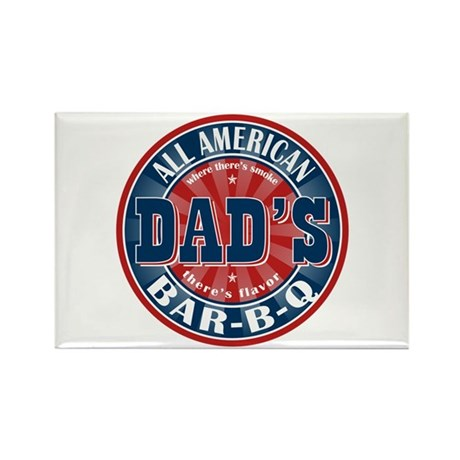 Dad's All American Bar-B-Q Rectangle Magnet (10 pa
