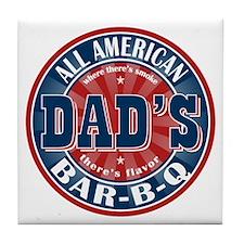 Dad's All American Bar-B-Q Tile Coaster