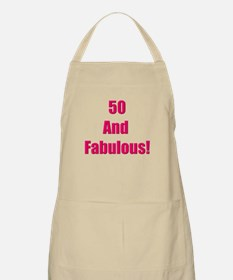 50 and fabulous BBQ Apron