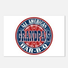 Grandpa's All American Bar-B-Q Postcards (Package