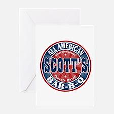 Scott's All American Bar-B-Q Greeting Card