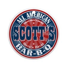 Scott's All American Bar-B-Q Ornament (Round)