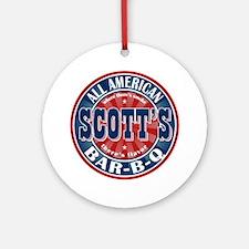 Scott's All American Bar-B-Q Ornament (Round)