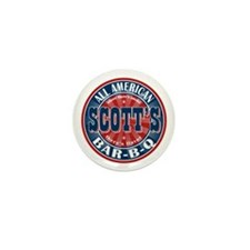 Scott's All American Bar-B-Q Mini Button (10 pack)