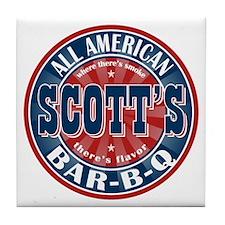 Scott's All American Bar-B-Q Tile Coaster