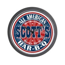 Scott's All American Bar-B-Q Wall Clock
