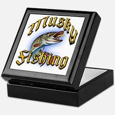 Musky Fishing 2 Keepsake Box