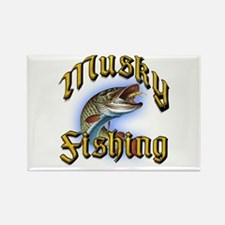 Musky Fishing 2 Rectangle Magnet