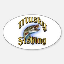 Musky Fishing 2 Oval Decal
