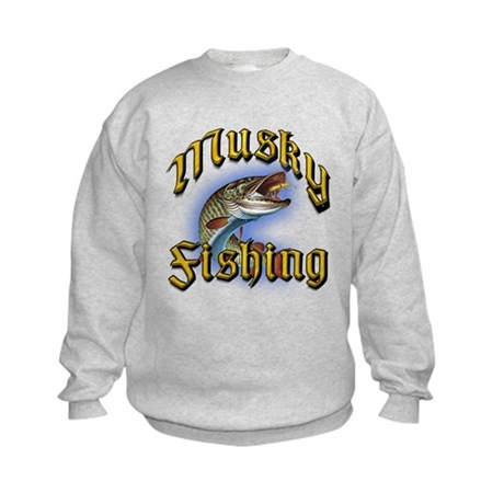 Musky Fishing 2 Kids Sweatshirt