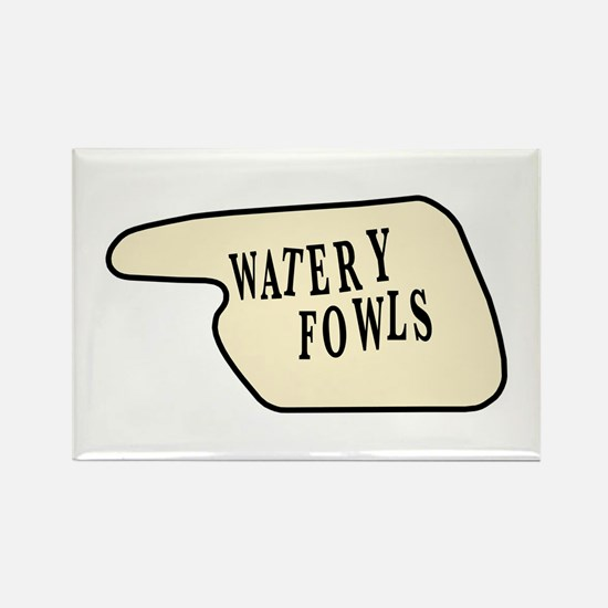 Watery Fowls Rectangle Magnet
