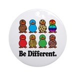 Be Different Ducks Ornament (Round)