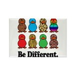 Be Different Ducks Rectangle Magnet