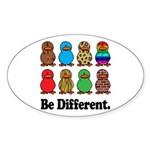 Be Different Ducks Oval Sticker