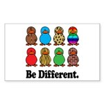 Be Different Ducks Rectangle Sticker