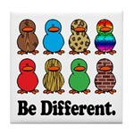 Be Different Ducks Tile Coaster