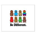 Be Different Ducks Small Poster