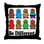 Be Different Ducks Throw Pillow