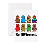 Be Different Ducks Greeting Cards (Pk of 20)