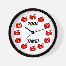 Carpenter Wall Clock With Tool Box
