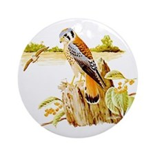 Sparrow Hawk Ornament (Round)