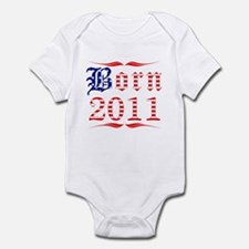 Born all american in 2011 Infant Bodysuit