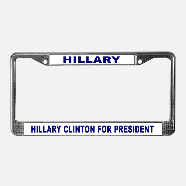 HILLARY License Plate Frame