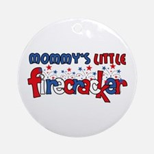 Mommy's Little Firecracker Ornament (Round)